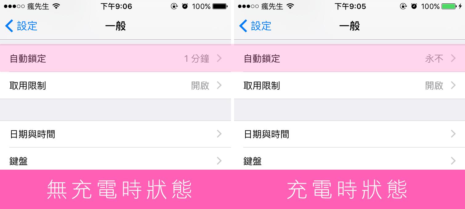 [Cydia for IOS8~iOS9]讓iPhone在充電時進入不自動鎖定狀態「Disable autolock on AC」