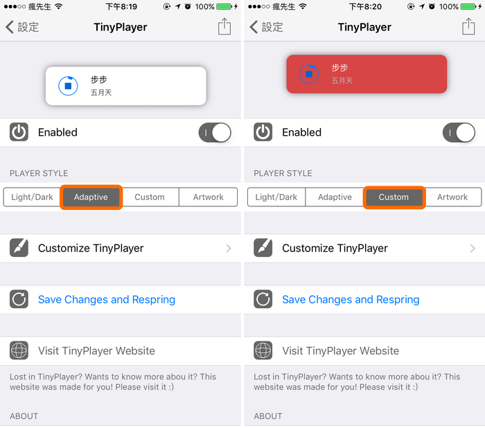 「TinyPlayer Pro」讓音樂控制器永遠顯示於iOS畫面上