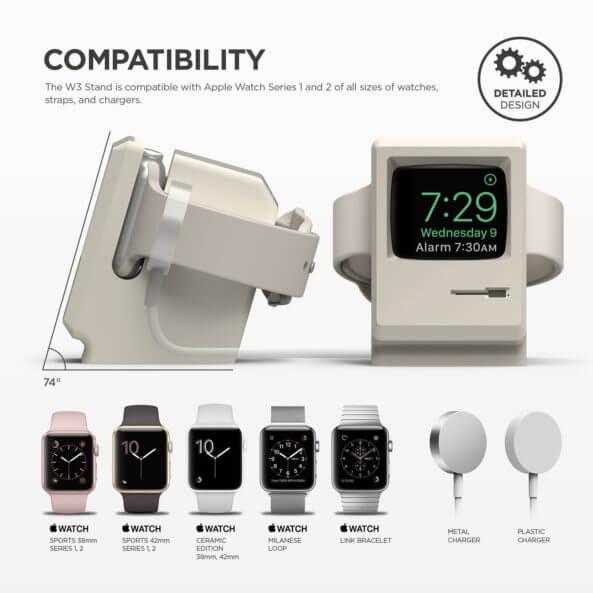 Elago W3 Stand充電座:讓Apple Watch一秒變Macintosh麥金塔電腦