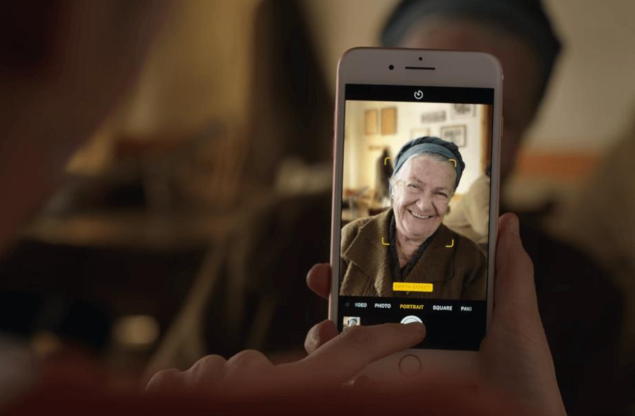 蘋果替iPhone 7 Plus推出「人像」淺景深模式廣告