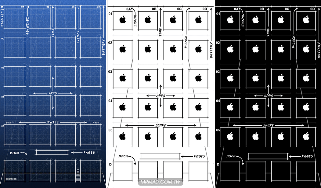 [桌布分享] iPhone 全系列設計藍圖桌布免費下載