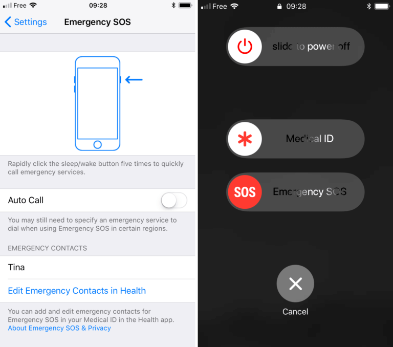 iOS 11 實現快速鍵呼叫SOS緊急救援!並可停用Touch ID指紋辨識