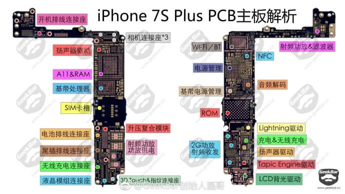 iPhone 7s Plus 主機板詳細資料提早被解密!含有無線充電功能