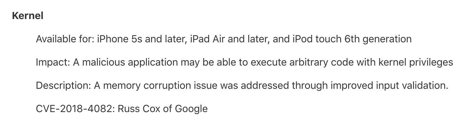 iOS 11.2.5修復的CVE-2018-4082內核漏洞