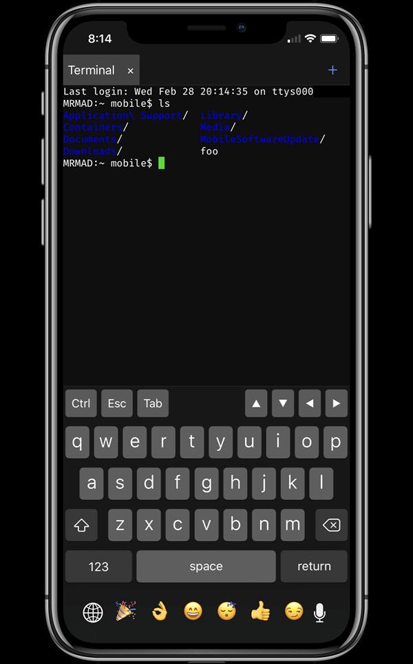 iOS 11越獄首款支援iPhone X解析度終端機工具「NewTerm 2」