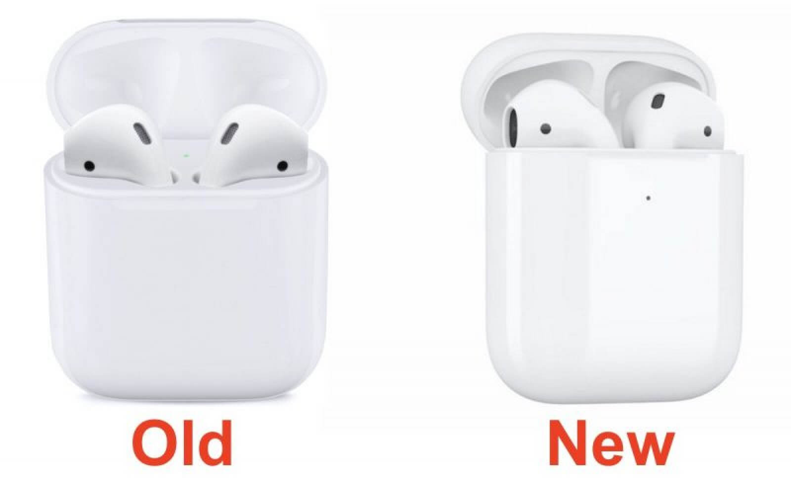 舊版AirPods與新版AirPods充電盒差異