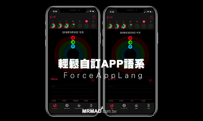 ForceAppLang 自訂iOS應用程式App預設啟用的語系