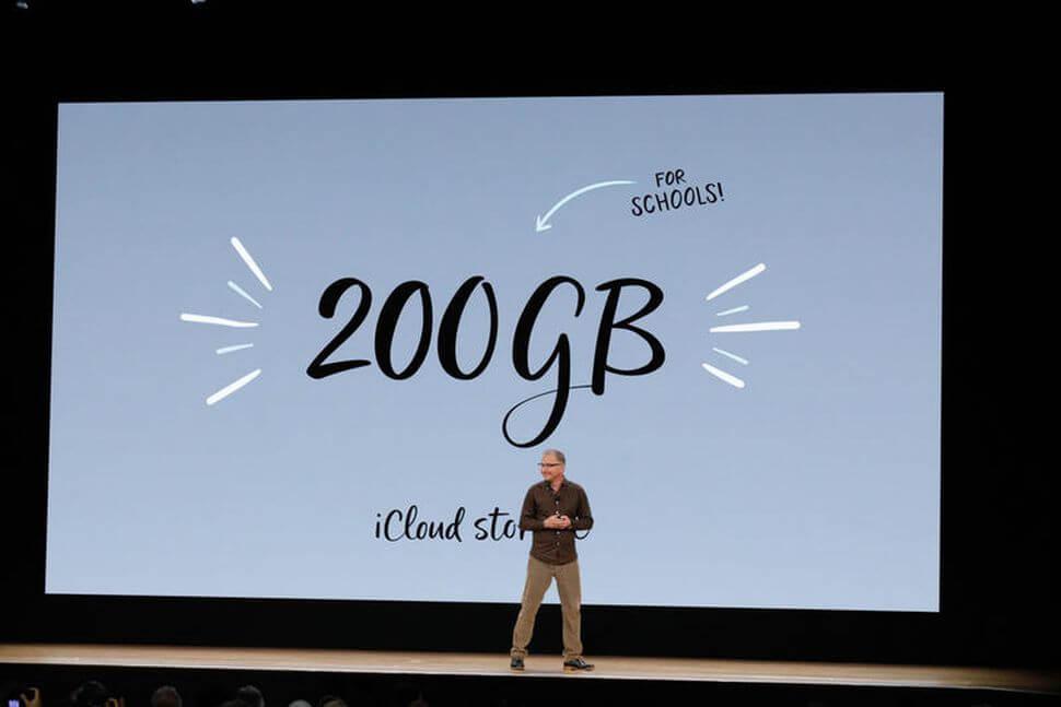 蘋果替學校學生提供 200GB 免費 iCloud 空間