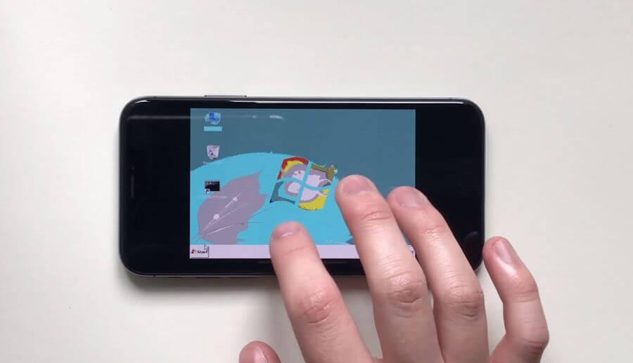 iPhone X 強到也能順利跑 Windows 95 和 Windows 7