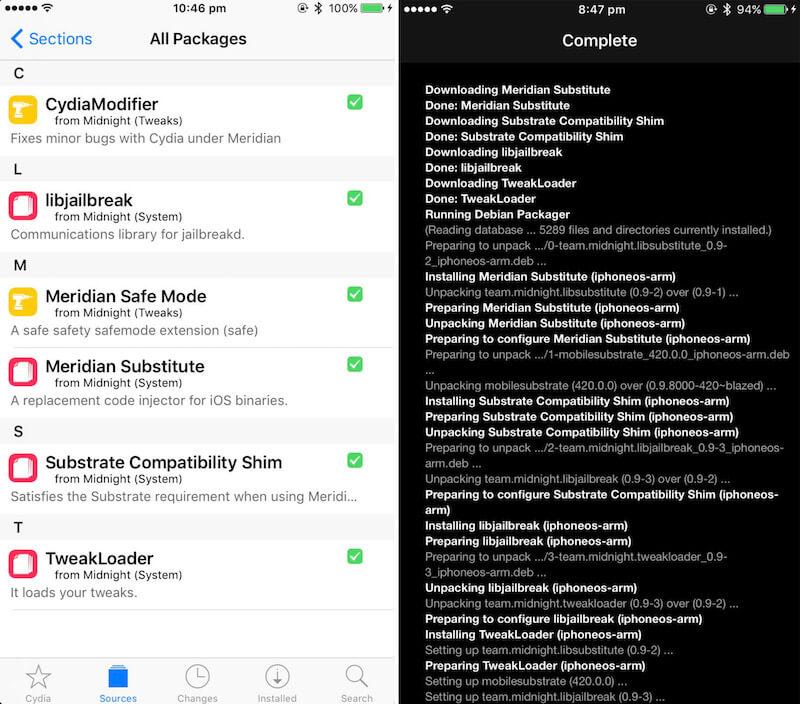 iOS 10.x 越獄工具Meridian已經完美支援 Cydia