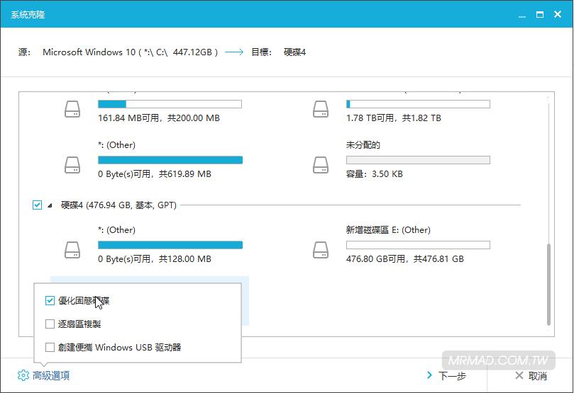 教你快速硬碟拷貝,SSD和舊硬碟的Windows作業系統轉移到新硬碟上