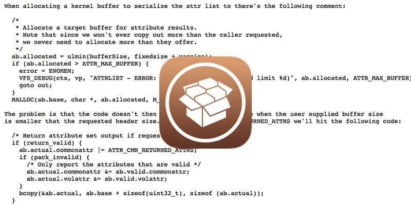 Ian Beer已經更新iOS 11.3.1 VFS漏洞,不需要開發者帳號也能夠使用