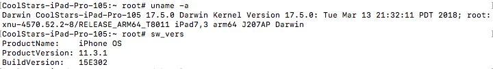 iOS 11.3.1 越獄開發者已經在 iPad Pro 成功越獄獲得 Root 權限