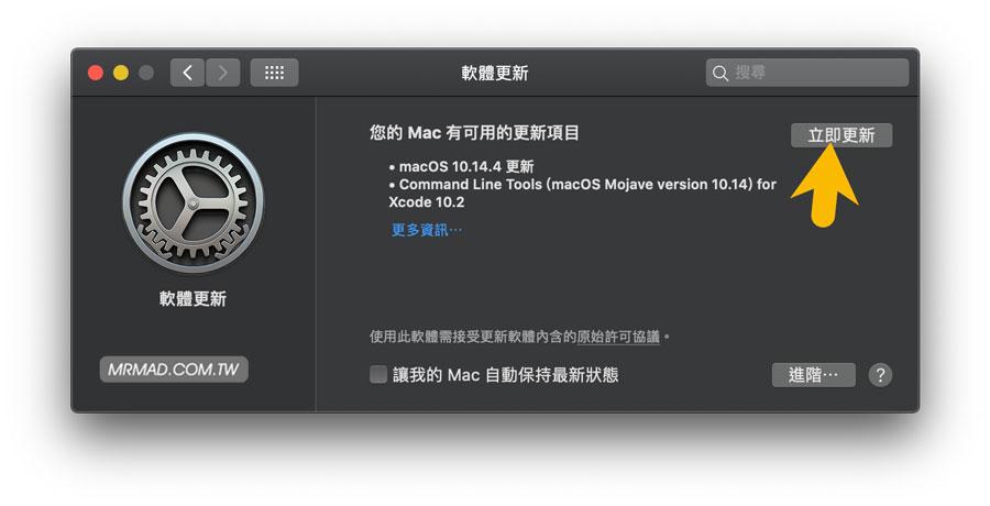 移除 macos 10.14 Mojave 開發者測試版3
