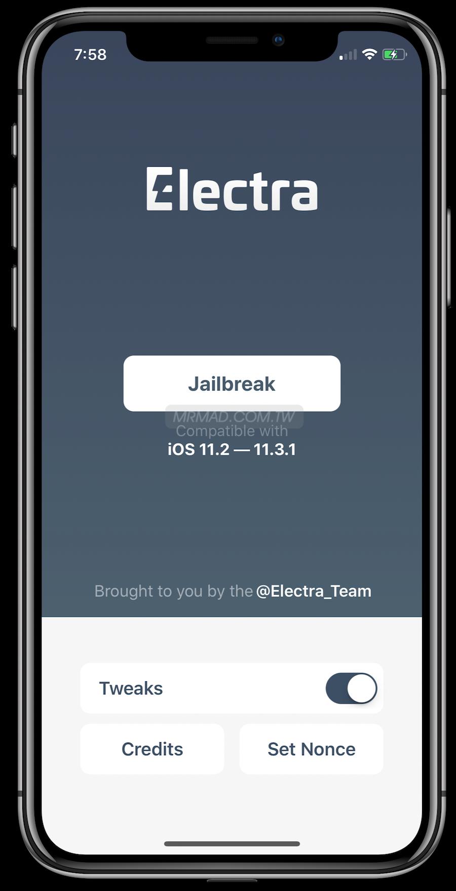 免電腦直接安裝 Electra 開發者版 iOS 11.2~11.3.1 越獄工具