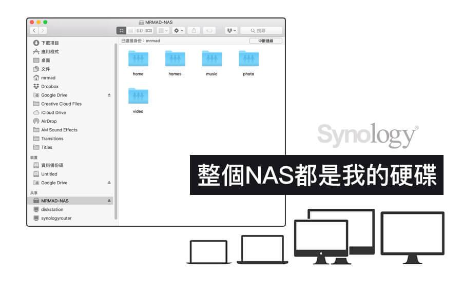 【NAS教學】macOS 即時區網存取共享 NAS 磁碟空間小技巧