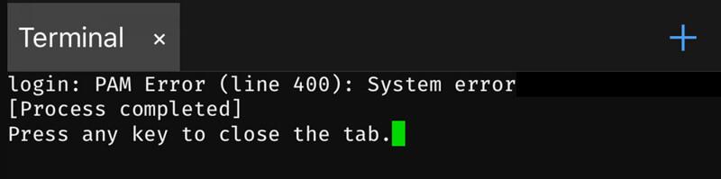解決 Meridian 越獄工具使用 NewTerm 2 終端機出現PAM Error錯誤問題