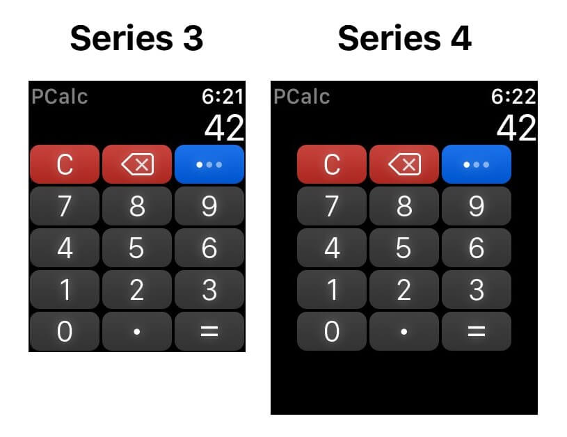 Apple Watch Series 4 螢幕比較圖3