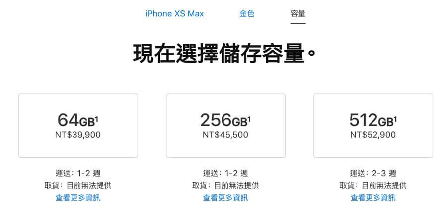 iPhone XS Max前30分鐘預購情況金色