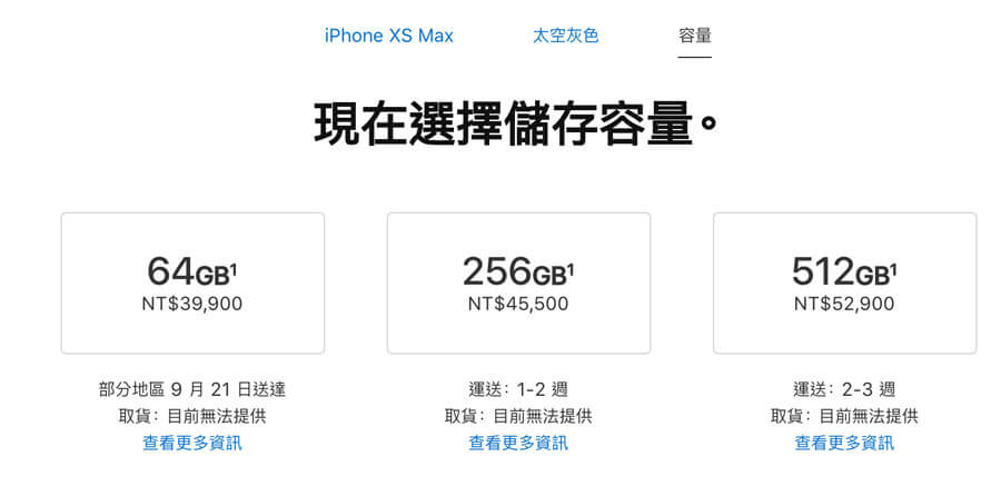 iPhone XS Max前30分鐘預購情況太空灰色