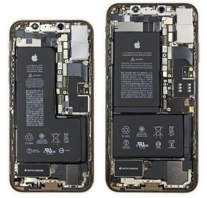 iFixit拆解iPhone XS與iPhone XS Max 主機板