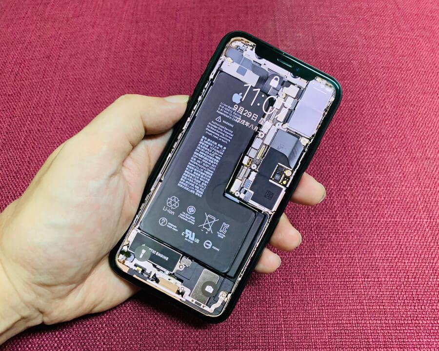 免費下載高畫質iPhone XS和iPhone XS Max透明主機板桌布