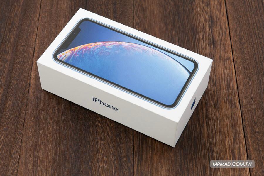 iPhone XR 藍色開箱1