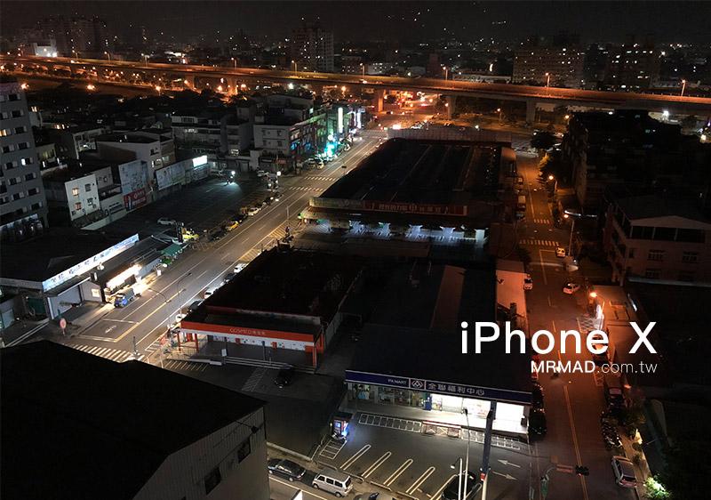 iPhone X拍攝夜景