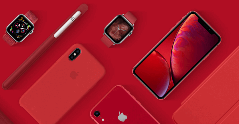蘋果邀你響應世界愛滋病日(RED)公益計畫,直營店全改成紅色Logo