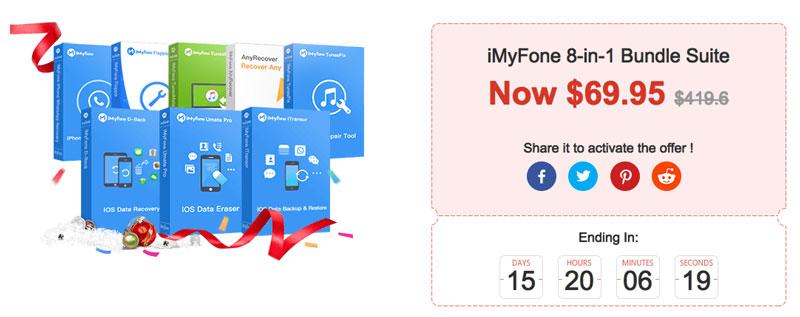 iMyFone 買一款送八款軟體超級優惠包