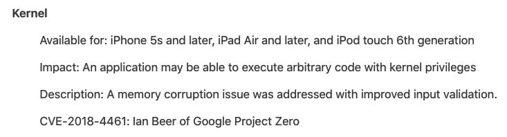 iOS 12.1.1安全漏洞修補,顯示iOS 12.1存在大量漏洞