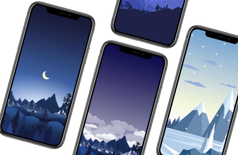 迎接聖誕節,分享10張雪白冬天系列iPhone桌布免費下載