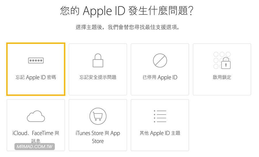 Apple ID 帳號和密碼全忘記最終解決方案1