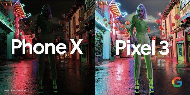 Google Pixel 3 廣告嘲笑 iPhone XS 夜拍:太差了!根本是被我打假的1