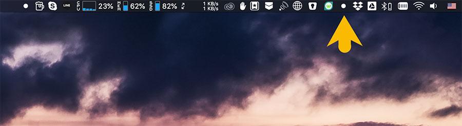 Dozer 自訂管理MacOS狀態列圖示選單工具,只要一拖一點就能隱藏