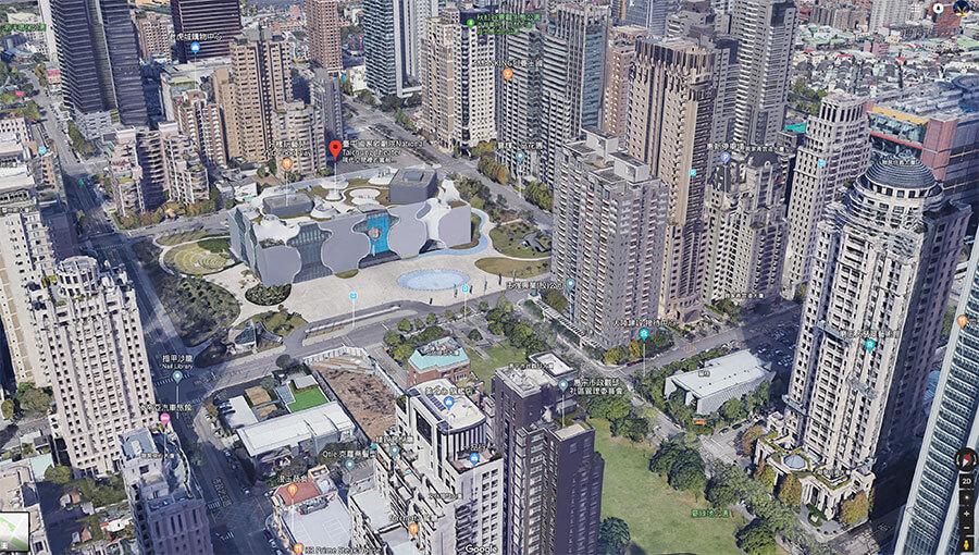 Google地圖加入台灣3D城市建築衛星影像,導覽模擬城市來了!