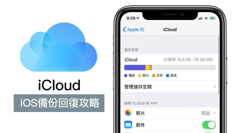 iCloud雲端備份教學:教你用iCloud備份iPhone資料和照片及購買空間