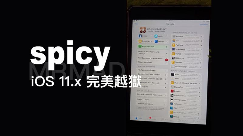 開發者Jake Blair展示 iOS 11 完美越獄辛辣(spicy)影片