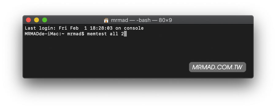 Mac記憶體測試工具MemTest,偵測記憶體是否穩定或有問題