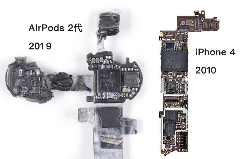AirPods 2 代拆解分析:H1 耳機晶片效能如iPhone 4 戴在耳邊