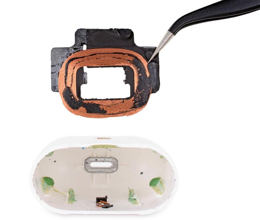 AirPods 2代無線充電盒的無線充電線圈