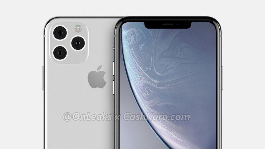 iPhone XI 三镜头符合机身配色银色款