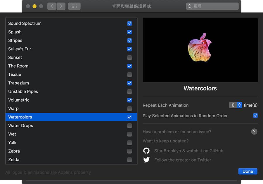 Mac 螢幕保護程式實現蘋果 Logo 動態效果教學6