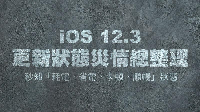 iOS 12.3 適合更新嗎?順暢度、耗電狀態與各類災情總整理