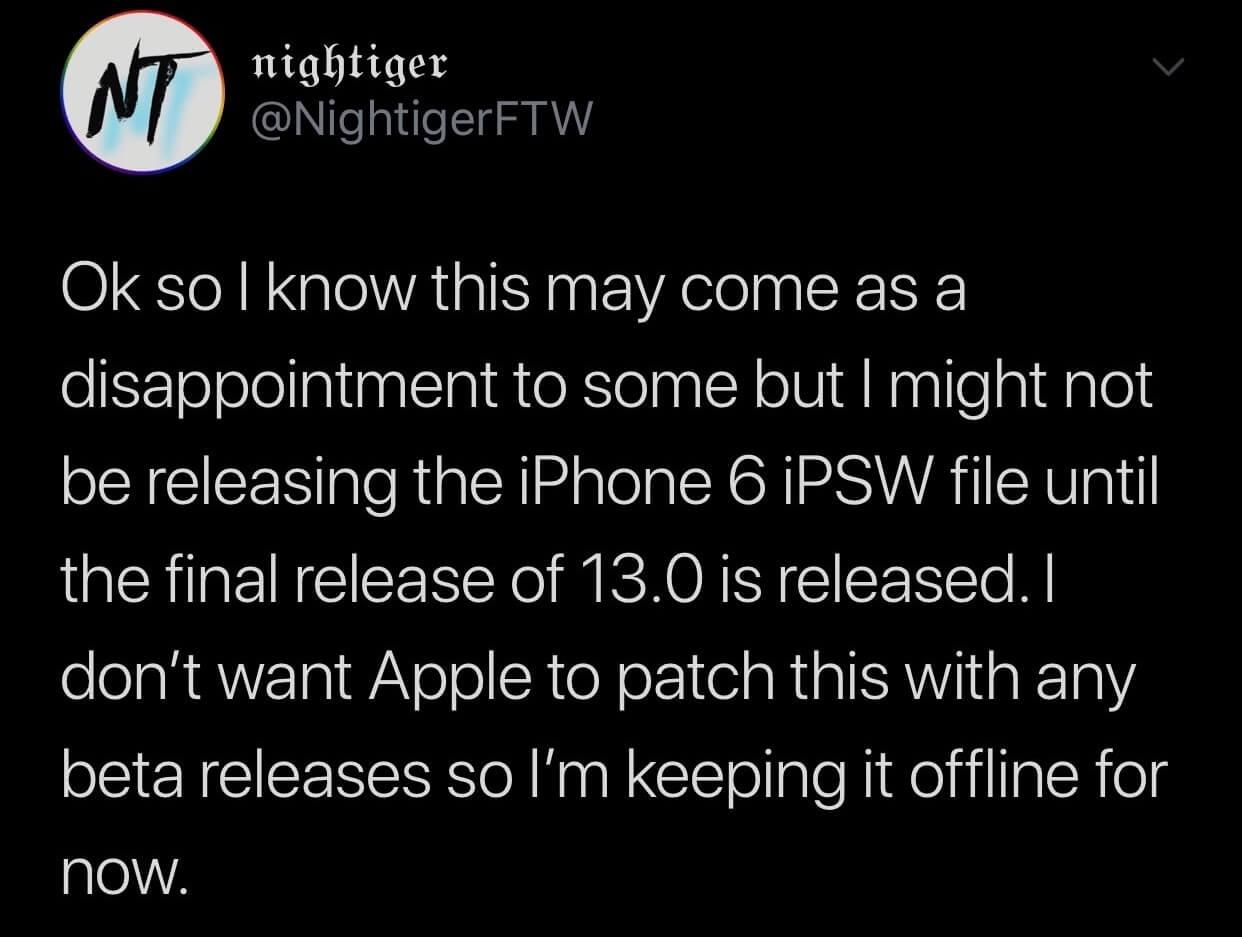 國外用戶替 iPhone 6 改寫 iPSW 能安裝與執行 iOS 13 beta1 ?2