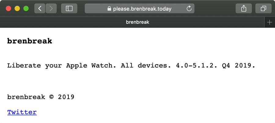 watchOS 越獄 brenbreak 將於2019年第四季推出!支援所有 Apple Watch2