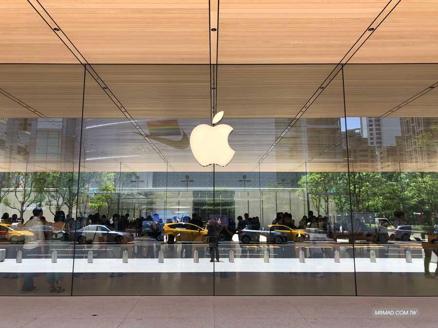 Apple 信義A13 巧妙的大片玻璃帷幕設計