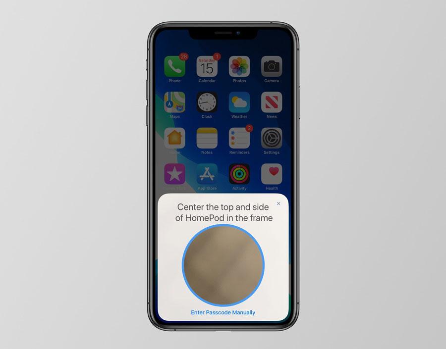 iOS 13 替 HomePod 加入全新配對方法,直接掃描頂端 LED 燈就可配對