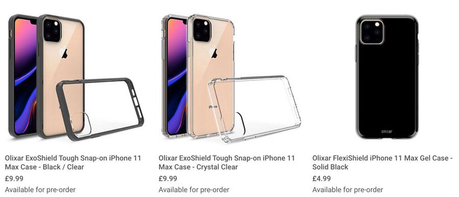 iPhone 11 Max 保護殼廠商搶先曝光外型設計,方形三鏡頭和圓形靜音鍵1