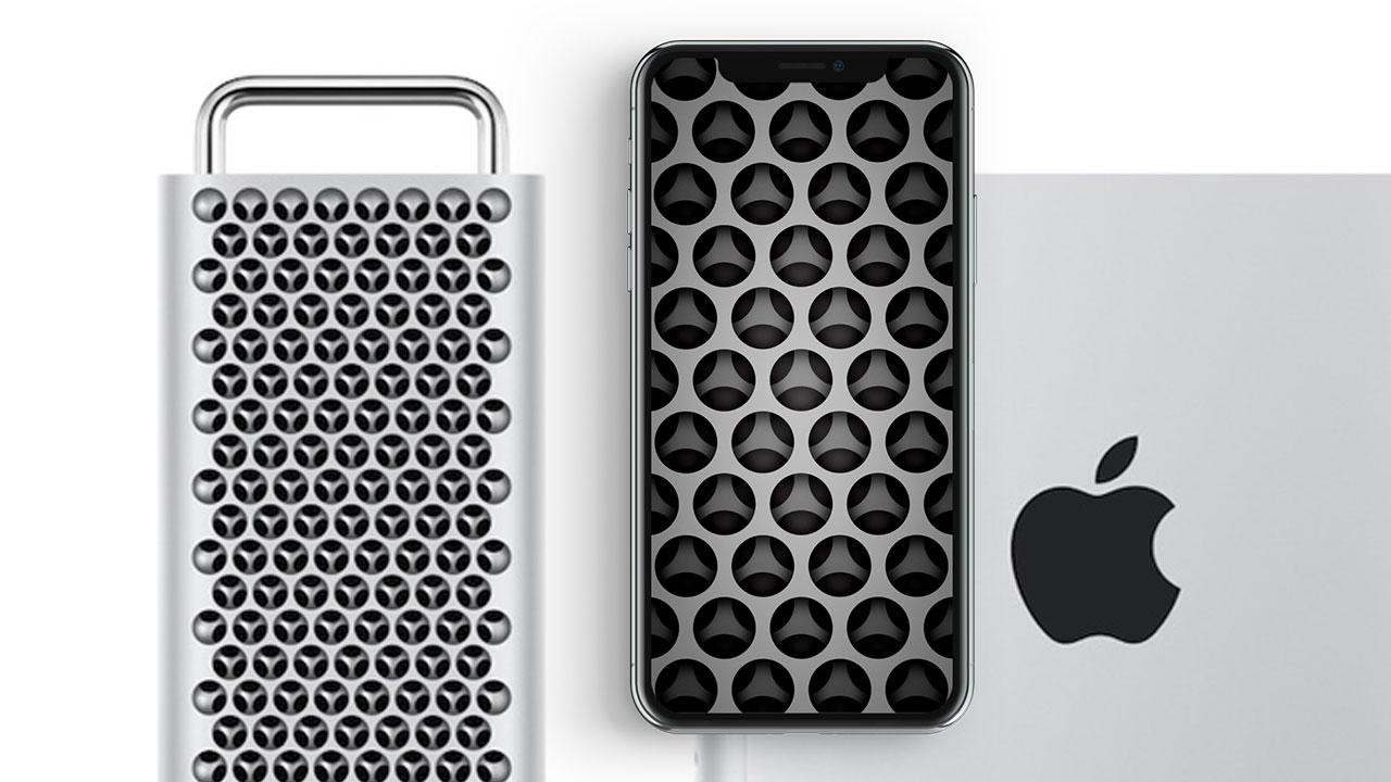 Mac Pro 洞洞桌布免費下載,有 iPhone 、iPad 、Mac 皆可使用